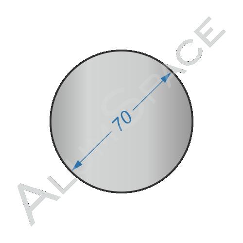 Алюминиевый круг 70 2024 Т351
