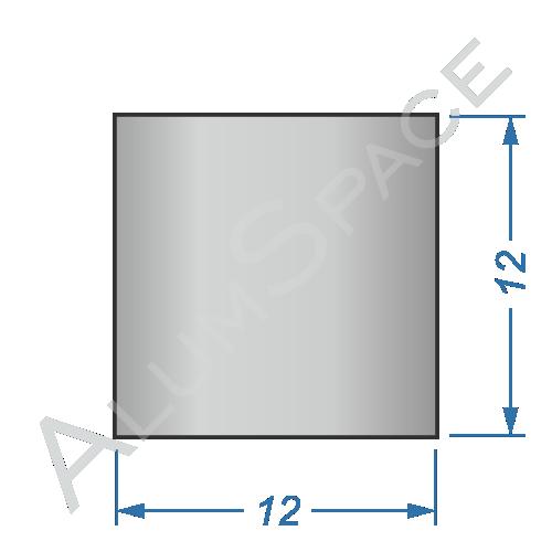 Алюминиевый квадрат 12х12 Анод