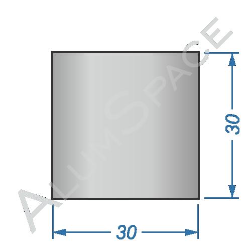 Алюминиевый квадрат 30х30
