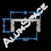 Алюминиевый LED профиль накладной 16х7 Анод