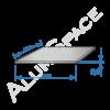 Алюминиевый лист 0,5 (1,0х2,0) 1050 А Н24