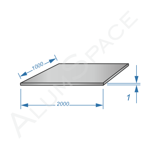 Алюминиевый лист 1,0 (1,0х2,0) 1050 А Н24