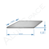 Алюминиевый лист 1,5 (1.5х4,0) 1050 А Н0