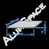 Алюминиевый лист квинтет 1,0 (1,25х2,5) 1050 А Н244