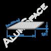 Алюминиевый лист квинтет 1,5 (1,5х3,0) 1050 А Н244