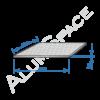 Алюминиевый лист квинтет 2,0 (1,5х3,0) 5754 Н114