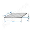 Алюминиевый лист квинтет 4,0 (1,5х3,0) 1050 А Н244