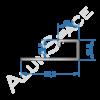 Алюминиевый пофиль L-образный универсальный 33,5мм х 12,5 х 2,7м, анод