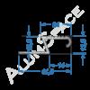 Алюминиевый порог для плитки скрытого монтажа Z- образный 41,5мм х 2,7м, анод