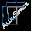 Алюминиевый порог для плитки внешний универсальный 33мм х 2,7м, анод
