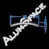 Алюминиевый порог гладкий 30мм х 1,8м, анод