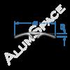 Алюминиевый порог гладкий скрытого монтажа 40мм х 1,8м, анод