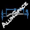 Алюминиевый порог рифленый 30 х 5мм х 0,9м, анод