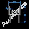 Алюминиевый профиль для шкафов-купе верхний AA02