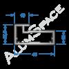 Алюминиевый профиль рамочный Р31 Анод