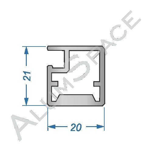 Алюминиевый профиль рамочный Р32 Анод