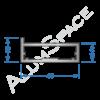 Алюминиевый профиль рамочный Р34 Анод