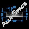 Алюминиевый радиаторный профиль 120х36