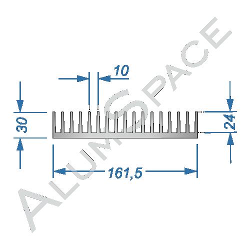 Алюминиевый радиаторный профиль 161,5х30