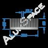 Алюминиевый радиаторный профиль 220х85