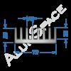 Алюминиевый радиаторный профиль 72х26 Анод
