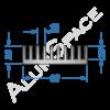 Алюминиевый радиаторный профиль 92х26 Анод
