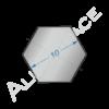 Алюминиевый шестигранник 10 мм