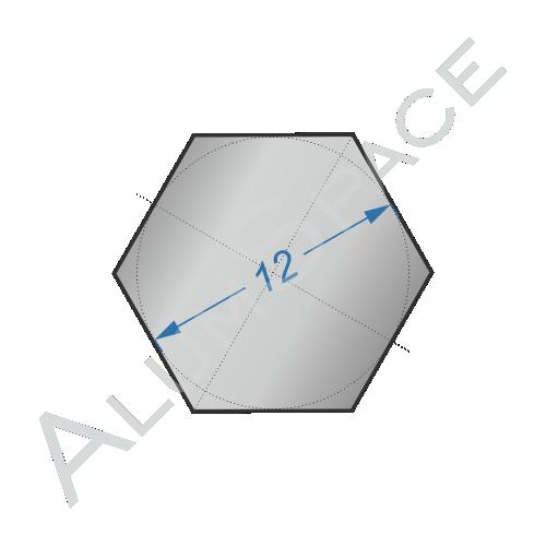 Алюминиевый шестигранник 12 мм