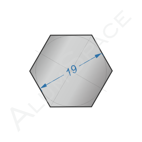 Алюминиевый шестигранник 19 мм