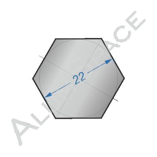 Алюминиевый шестигранник 22 мм