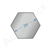 Алюминиевый шестигранник 24 мм