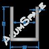 Алюминиевый швеллер 10х12х1 (8мм)