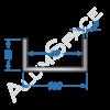 Алюминиевый швеллер 100х50х5 (90мм)