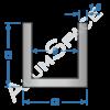 Алюминиевый швеллер 12х12х1,5 (9мм)