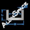 Алюминиевый швеллер 12х7х1,5 (9мм)
