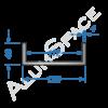 Алюминиевый швеллер 120х40х4 (112мм)