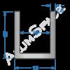 Алюминиевый швеллер 13х15х1,5 (10мм)