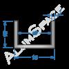 Алюминиевый швеллер 15х10х1 (13мм)
