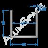 Алюминиевый швеллер 15х15х0,95 (13,1мм) Анод