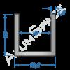 Алюминиевый швеллер 19,6х20х1,8 (16мм)