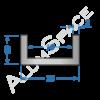 Алюминиевый швеллер 20х10х2 (16мм)