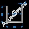 Алюминиевый швеллер 25х25х2 (21мм)
