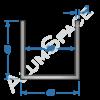 Алюминиевый швеллер 40х40х2 (36мм)
