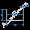Алюминиевый швеллер 60х40х2,5 (55мм)