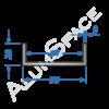 Алюминиевый швеллер 90х30х3 (84мм)