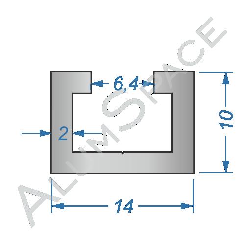 Алюминиевый станочный профиль 14х10