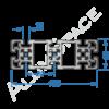 Алюминиевый станочный профиль 150х50