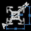 Алюминиевый станочный профиль 30х30