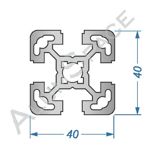 Алюминиевый станочный профиль 40х40