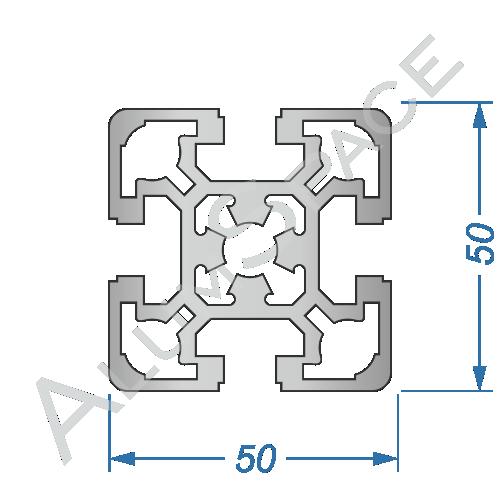 Алюминиевый станочный профиль 50х50